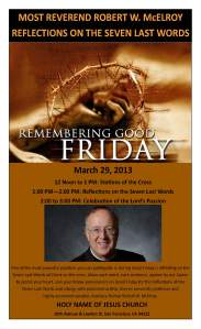 2013 - Good Friday Reflections with Bishop McElroy